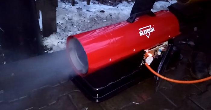 выбор выхлопных газов из пушек прямого нагрева дизельных