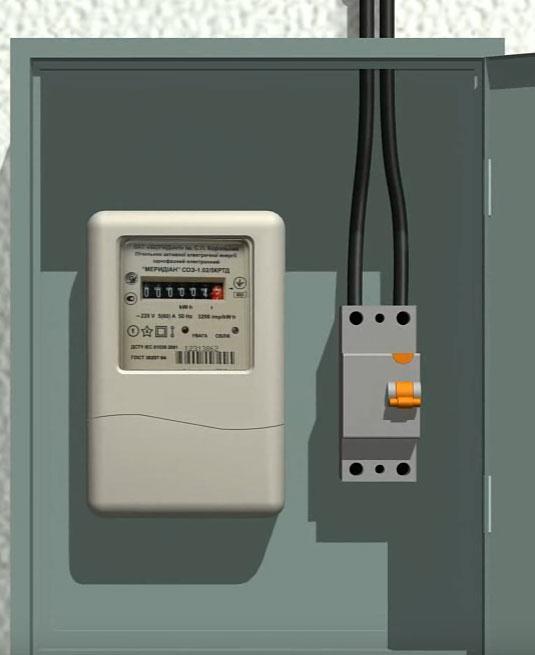 заход СИП со столба в автомат распредщитка на доме