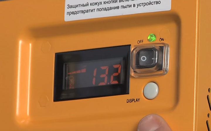 контроль напряжения на аккумуляторе через табло ИБП котла