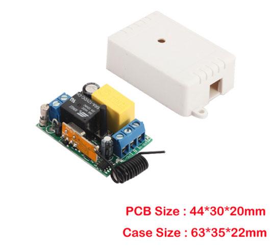 размеры модуля управления дистанционным выключателем