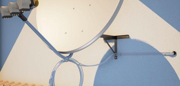 прокладка кабелей от тарелки до тюнера