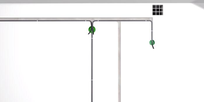 монтаж проводки для подключения вытяжки