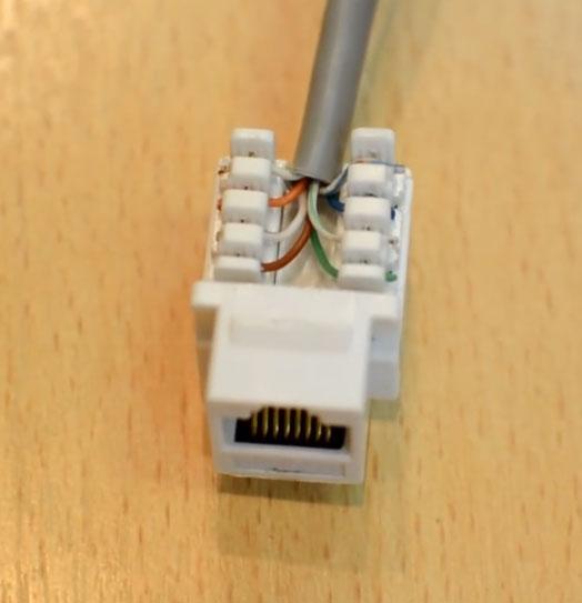как коротко нужно обрезать оболочку с кабеля utp