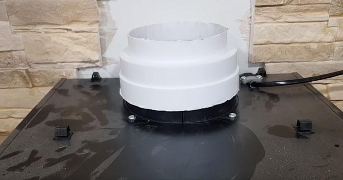 подключение вертикального участка на вытяжку