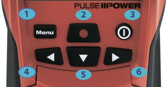 кнопки управления детектором тестером hilti ps38