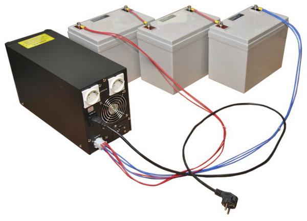 подключение 3-х аккумуляторов к ИБП