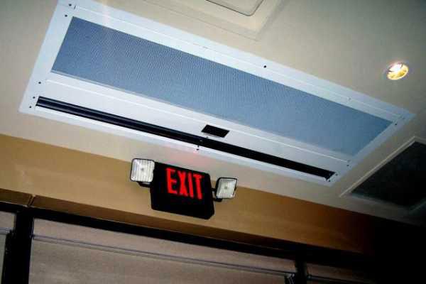 скрытая тепловая завеса спрятанная в потолок