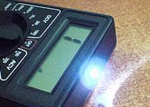 доработка мультиметра под фонарик