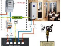 Как правильно подключить стабилизатор напряжения — 5 ошибок. Схема подключения в частном доме.
