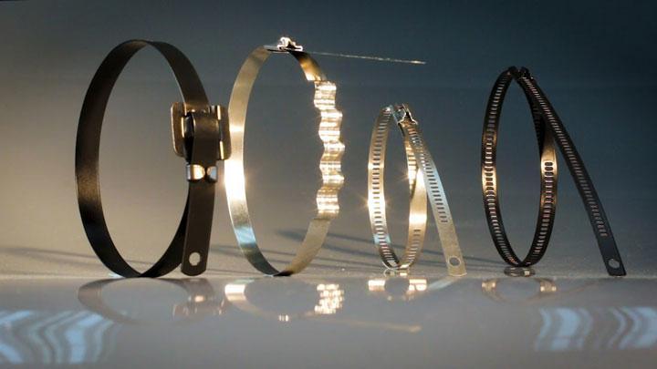стальные кабельные стяжки разновидности
