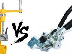 2 натяжителя бандажной ленты СИП – сравнение и выбор лучшего. ИН-20 или ИНТ-20 вертолет или храповая бандажная машинка.