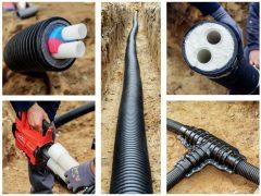 4 вида теплоизолированных труб uponor и 2 способа соединения. Технические характеристики, греющий кабель в водопроводной трубе.