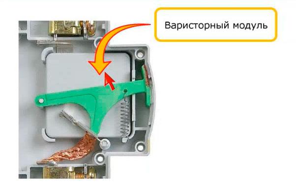 варисторный модуль встроенный в УЗИП
