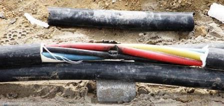 кабель с поврежденными жилами