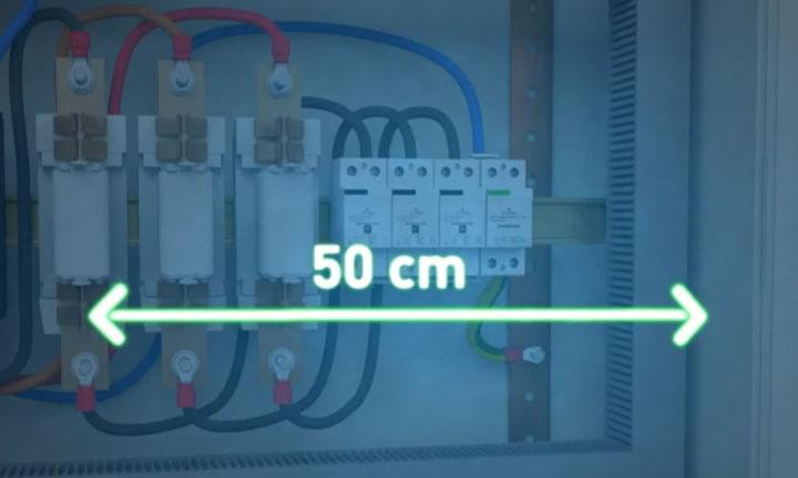 длина провода для подключения узип в щитке