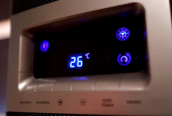 не отключаемая подсветка в обогревателе