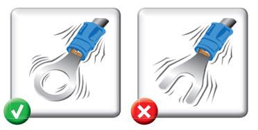 подключение наконечников к вибрационным контактам