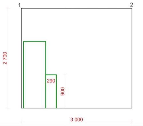 планировка кухонной мебели и где ставить розетки