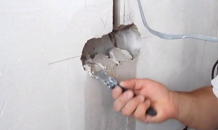 раствор для монтажа подрозетника в нишу стены