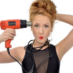 сушка волос строительным феном запрещена