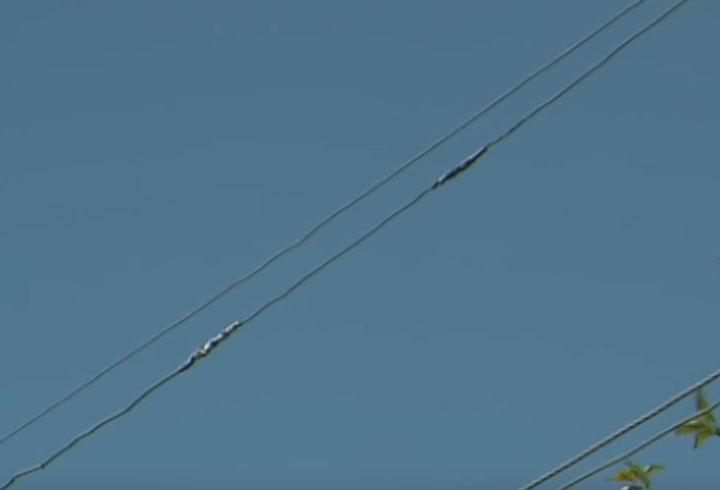 счалки провода в пролете ВЛ-0,4кв