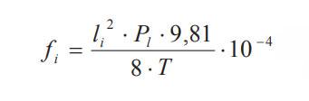 формула расчета стрелы провеса для натяжки провода СИП по монтажным таблицам