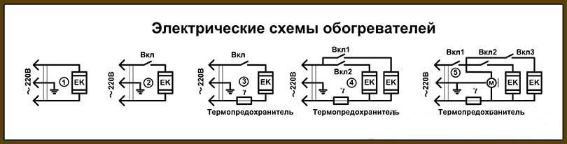 схема подключения тепловентилятора дуйки