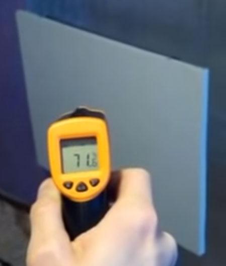 нагрев поверхности конвекторной панели