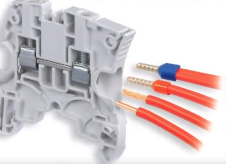 какие провода можно зажимать под клеммник многожильные одножильные с наконечником и без
