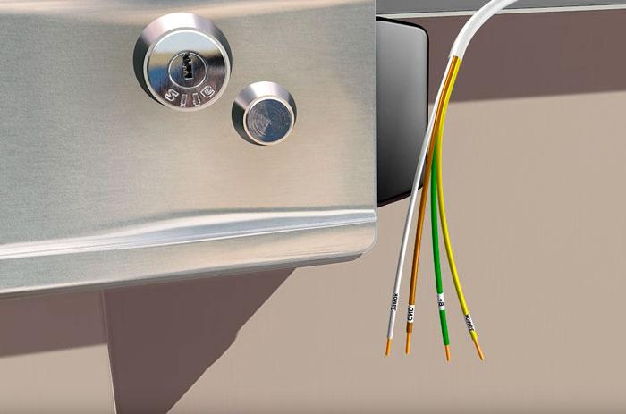 маркировка жил кабеля для подключения электромеханического замка