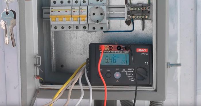 испытание изоляции кабельных жил мегометром при подземной прокладке