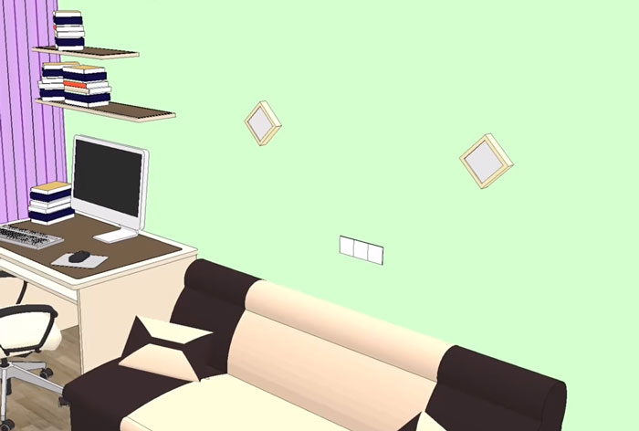 подсветка и выключателя в диванной зоне гостиной