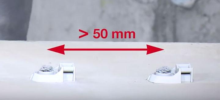 минимальное расстояние между крепежными площадками под кабель