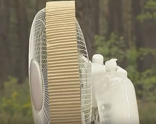как модернизировать самодельный кондиционер из напольного вентилятора