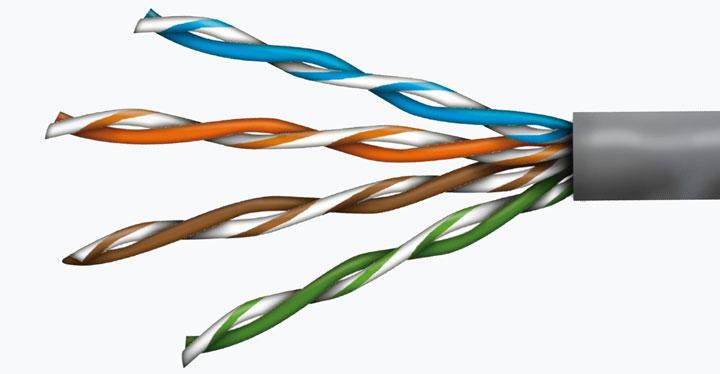 4-х парный кабель utp для видеонаблюдения