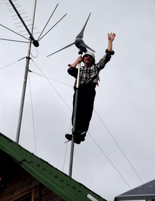 обслуживание и ремонт ветрогенератора на высоте