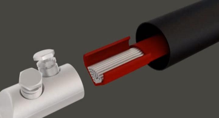 зачистка изоляции с жилы кабеля перед установкой болтового наконечника сколько см