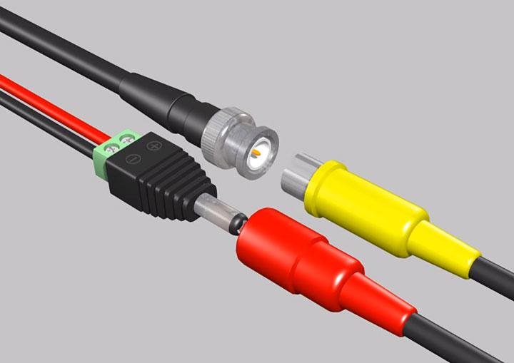 как правильно подключить провода питания и КВК-П на видеокамеру