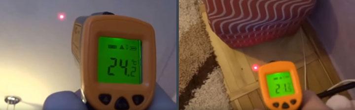 разница температур прогрева потолка и пола настенным конвектором