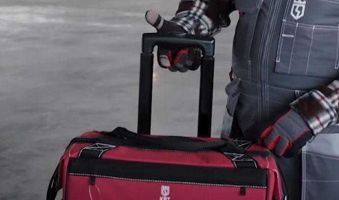 телескопическая ручка для перевозки у сумки тележки КВТ С-02