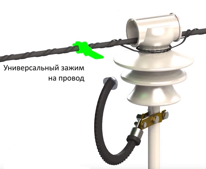 универсальный зажим на провод СИП для РМК-20