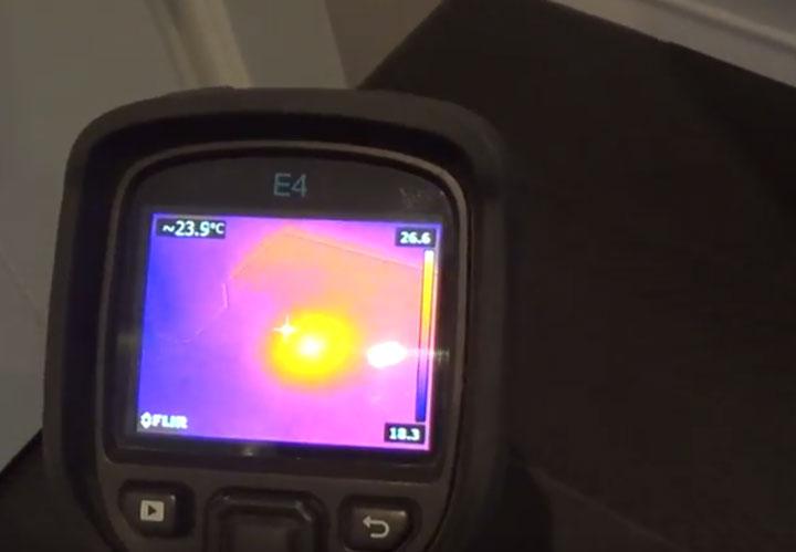 обнаружение места повреждения кабеля теплого пола тепловизором