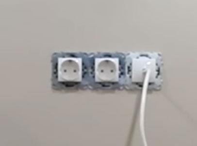 телевизионный кабель через заглушку без использования розетки