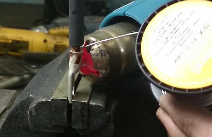 как обжать наконечник без пресса с помощью фена
