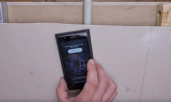 повторная калибровка сканера walabot для точного определения