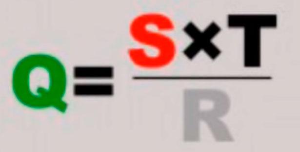 формула расчета теплопотерь