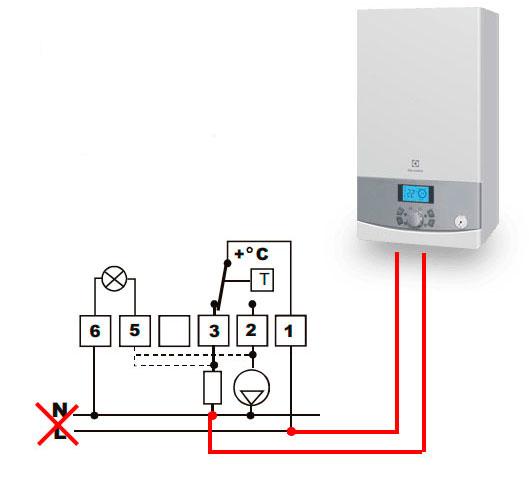 термостат для газовых котлов с сухим контактом