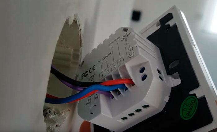 подключение регулятора температуры выносного на газовый котел