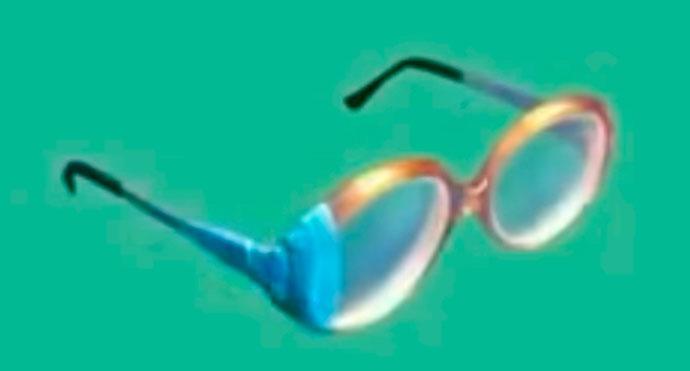ремонт бабушкиных очков синей изолентой