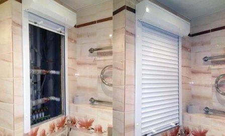 Сантехнические рольставни для ванной комнаты